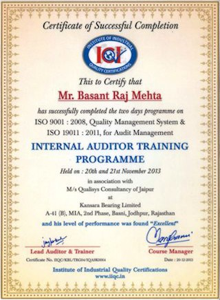 internal_auditor_training_basant_raj_mehta