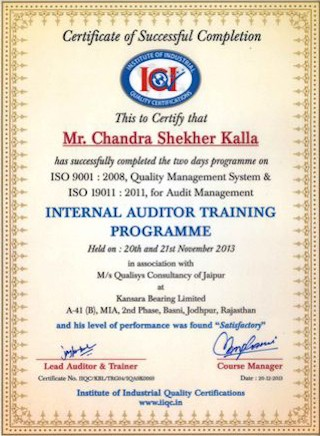 internal_auditor_training_chandra_shekher_kalla