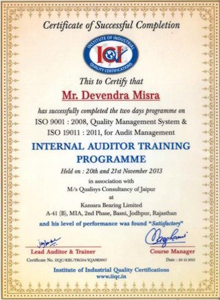 internal_auditor_training_devendra_mishra
