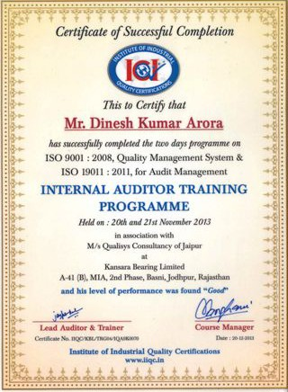 internal_auditor_training_dinesh_kumar_arora