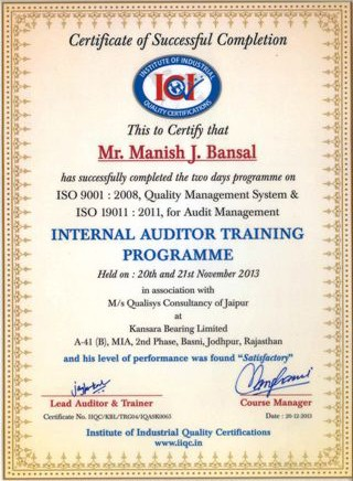 internal_auditor_training_manish_j_bansal