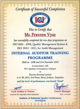internal_auditor_training_praveen_vyas